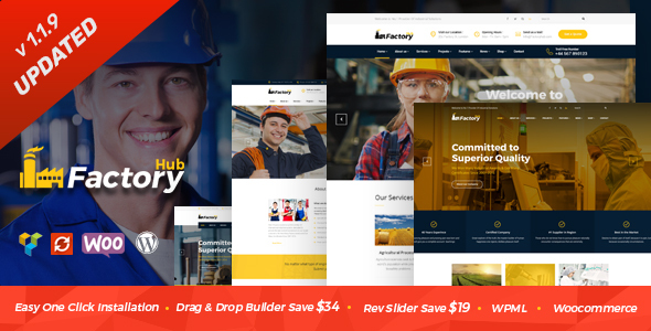 Factory HUB - Industry and Construction WordPress Theme