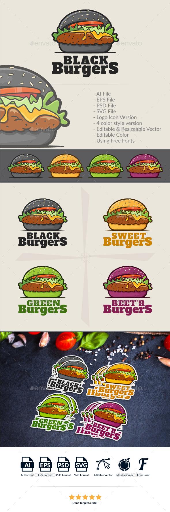 Burgers Logo Template