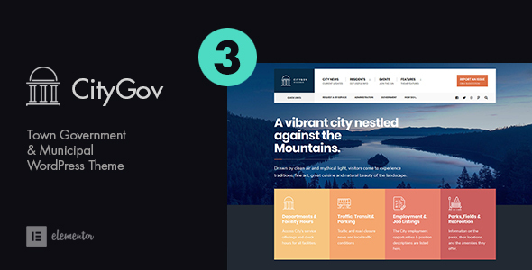 CityGov - City Government & Municipal WordPress Theme