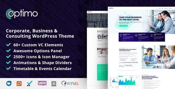 Optimo - Responsive Multi-Purpose WordPress Theme