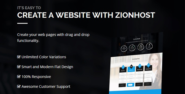 ZionHost - Web Hosting, WHMCS and Corporate Business WordPress Theme