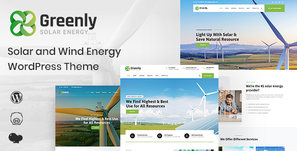Greenly - Ecology & Solar Energy WordPress Theme