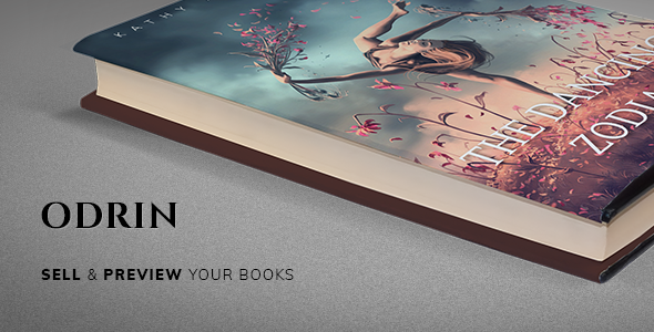 Odrin - Book Selling WordPress Theme for Writers