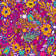 Floral Seamless Pattern with Flowers and Leaves - GraphicRiver Item for Sale