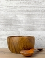 An Empty Wooden Bowl and Spoon - PhotoDune Item for Sale