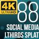 Social Media Lower Thirds Splat 4K (Video) - VideoHive Item for Sale