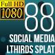 Social Media Lower Thirds Splat FullHD (Video) - VideoHive Item for Sale