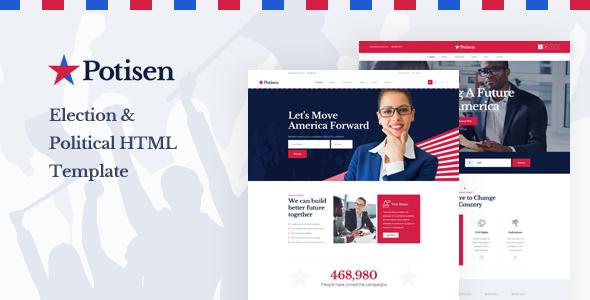 Potisen - Election & Political HTML Template