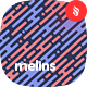 Melins - Melting Lines in Diagonal Rhythm Seamless Patterns - GraphicRiver Item for Sale