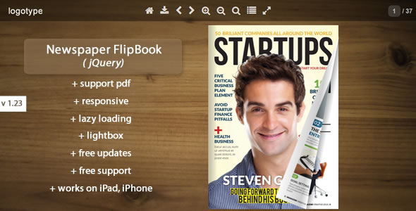 Newspaper Flipbook -jQuery