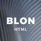 Blon - Personal Portfolio Template - ThemeForest Item for Sale