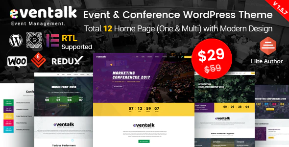 EvnTalk - Event Conference WordPress Theme