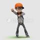 Cartoon Kid with Dancing Gangnam - VideoHive Item for Sale