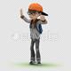 Cartoon Kid with Dancing Samba - VideoHive Item for Sale