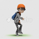 Cartoon Kid with Dancing House - VideoHive Item for Sale