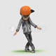 Cartoon Kid with Dancing Hip Hop 01 - VideoHive Item for Sale