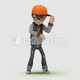 Cartoon Kid with Dancing Hip Hop 02 - VideoHive Item for Sale