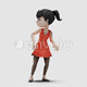 Cartoon Girl with Dancing Samba - VideoHive Item for Sale