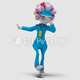 Cartoon Woman with Dancing Hiphop 01 - VideoHive Item for Sale
