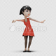 Cartoon Girl with Dancing Belly - VideoHive Item for Sale