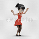 Cartoon Girl with Dancing Hiphop - VideoHive Item for Sale