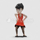 Cartoon Girl with Dancing Macarena - VideoHive Item for Sale