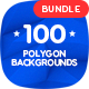 100 Different Abstract 3D Polygon Backgrounds Bundle - GraphicRiver Item for Sale