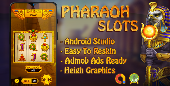 Pharaoh Slot Machine with AdMob - Android Studio Download