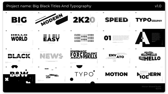 Big Black Titles And Typography