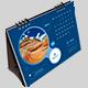 Desk Calendar 2020 Classic Blue - GraphicRiver Item for Sale