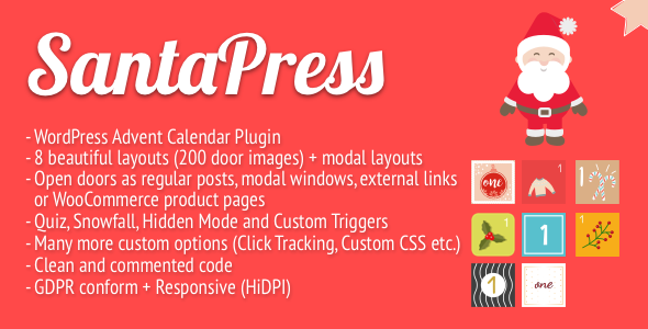 Photo of SantaPress – WordPress Advent Takvim Eklentisi & Quiz Full Download