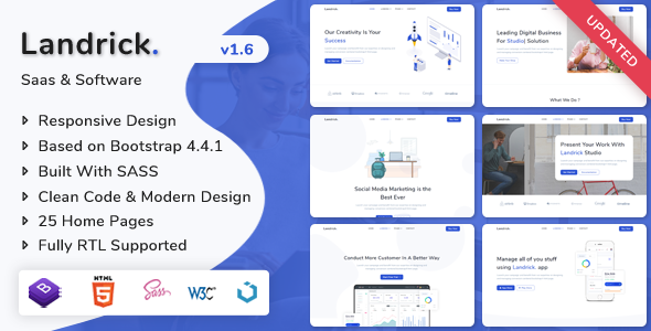 Themeforest Landrick Saas Software Landing Page Template Nulled Free Download