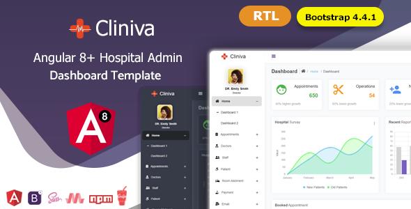Cliniva - Angular 8+ Medical Admin Dashboard Template For Hospital & Clinics