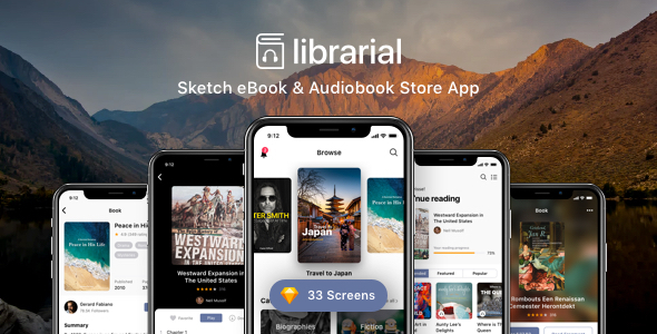 Librarial - Sketch eBook & Audiobook Store App