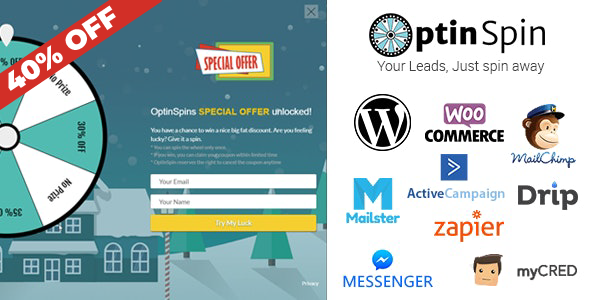 OptinSpin - Fortune Wheel Integrated with WordPress, WooCommerce and Easy Digital Downloads Coupons Download