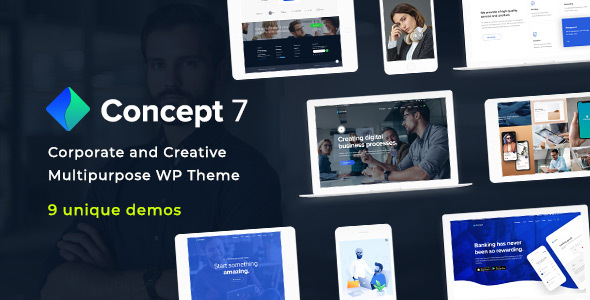 Concept Seven | Responsive Multipurpose WordPress Theme