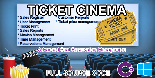 Cinema Ticket - Advanced Seat Reservation Management  C# MySQL