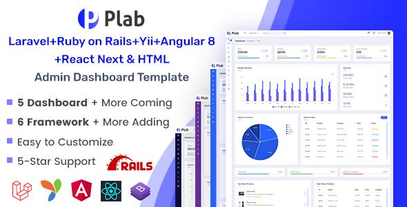 Plab   Multi-Framework Admin Dashboard Template