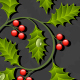Floral Background with Holly - GraphicRiver Item for Sale