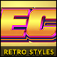 10 Retro Text Styles vol. 08 - GraphicRiver Item for Sale