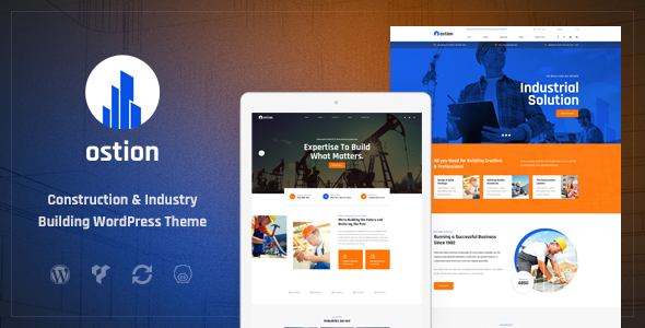 Ostion - Construction & Industry Building Company WordPress Theme