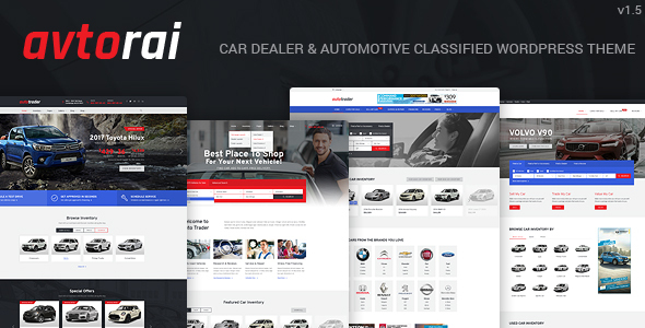 Avtorai- Car Dealer & Automotive Classified WordPress Theme