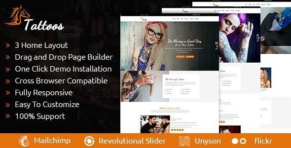 Tattoos - WordPress Theme