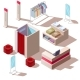 Isometric Fashion Store Interior - GraphicRiver Item for Sale
