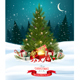 Holiday Background with Colorful Gift Boxes and Christmas Tree - GraphicRiver Item for Sale