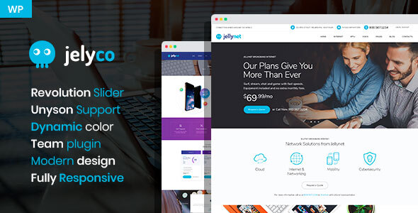 JelyCo - ISP & Telecom WordPress Theme