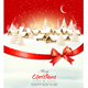 Holiday Christmas Winter Background with a Village Landscape Vector - GraphicRiver Item for Sale