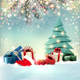 Christmas Holiday Background with Colorful Gift Boxes and Tree Vector - GraphicRiver Item for Sale