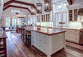 Beautiful luxury kitchen and dining room with view windows. - PhotoDune Item for Sale