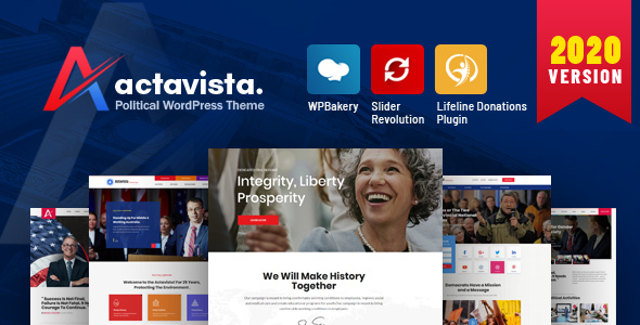 Actavista - A Responsive Political WordPress Theme For Politicians and Organizations